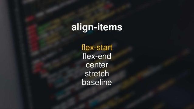 FLEX ITEM PROPERTIES