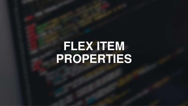 order a number that dictates the order in which the flex item is displayed (works similar to z-index)