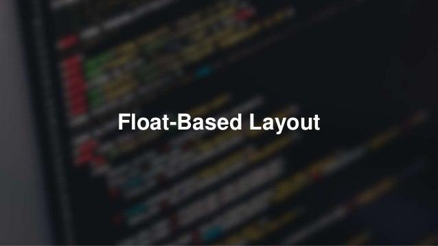 Float-Based Layout