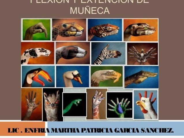 FLEXION Y EXTENCION DE MUÑECA LIC . ENFRIA MARTHA PATRICIA GARCIA SANCHEZ.