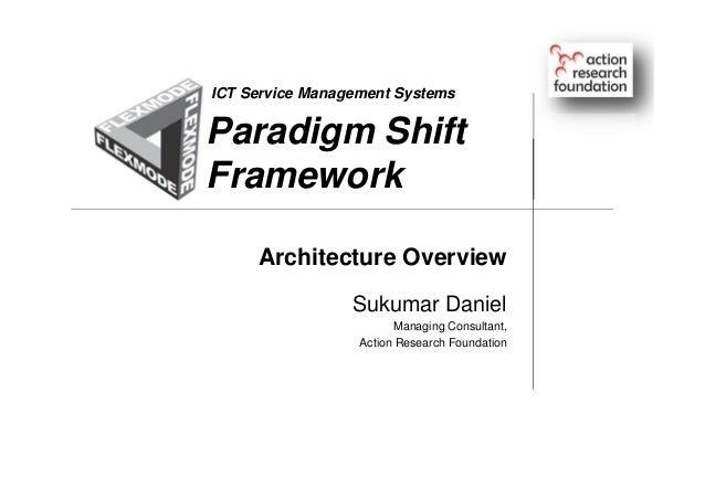 Paradigm Shift Framework Sukumar Daniel Managing Consultant, Action Research Foundation ICT Service Management Systems Arc...