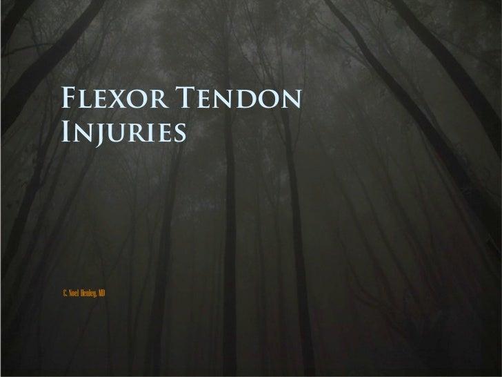 Flexor Tendons Anatomy Injury Treatment