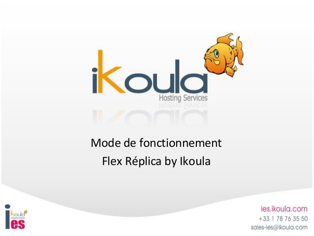 Mode de fonctionnement Flex Réplica by Ikoula