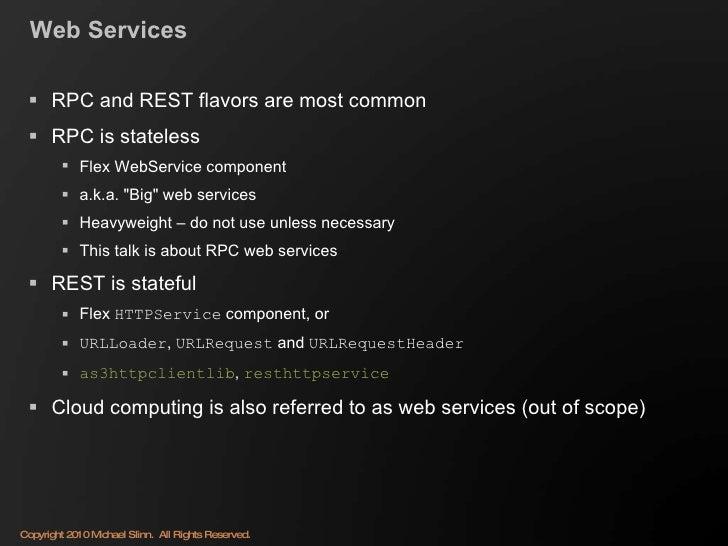 Using Flex with Enterprise Web Services Slide 3