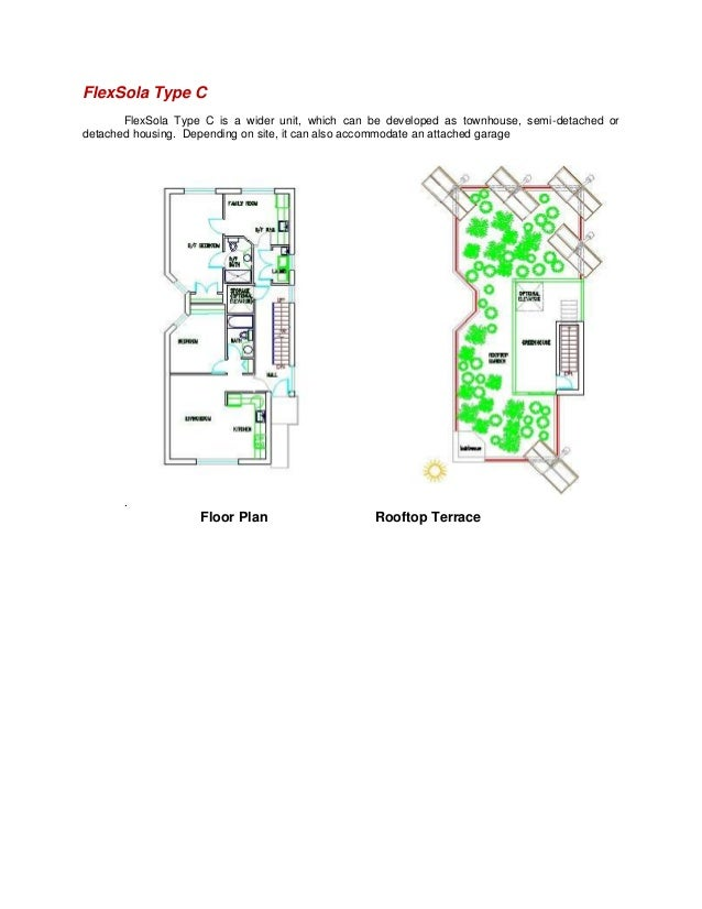 FlexSola Type CFlexSola Type C is a wider unit, which can be developed as townhouse, semi-detached ordetached housing. Dep...