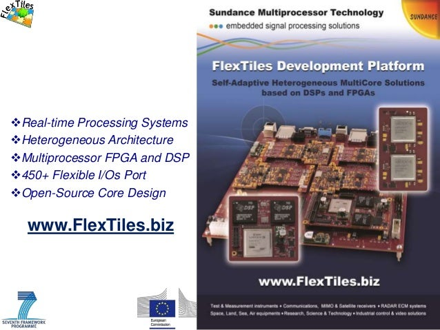 1 / www.FlexTiles.biz Real-time Processing Systems Heterogeneous Architecture Multiprocessor FPGA and DSP 450+ Flexibl...