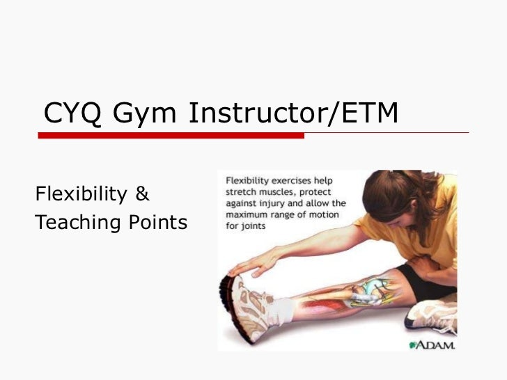 CYQ Gym Instructor/ETM Flexibility &  Teaching Points