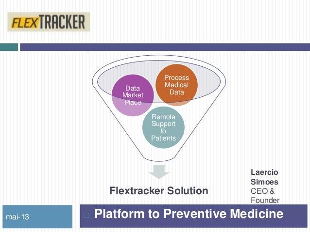 Flextracker SolutionRemoteSupporttoPatientsDataMarketPlaceProcessMedicalDatamai-13  Platform to Preventive MedicineLaerci...