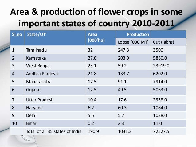 flower industry in india