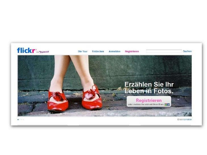 Flickr.com      Bilder im Netz teilenBeschreibung eines Web 2.0-Tools