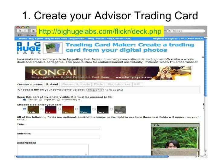 Create Your Advisor Trading Card Bighugelabs Com Flickr