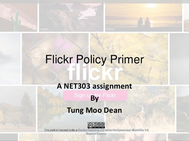 Flickr Policy Primer A NET303 assignment By Tung Moo Dean