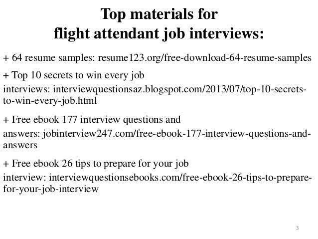 2 3 top materials for flight attendant