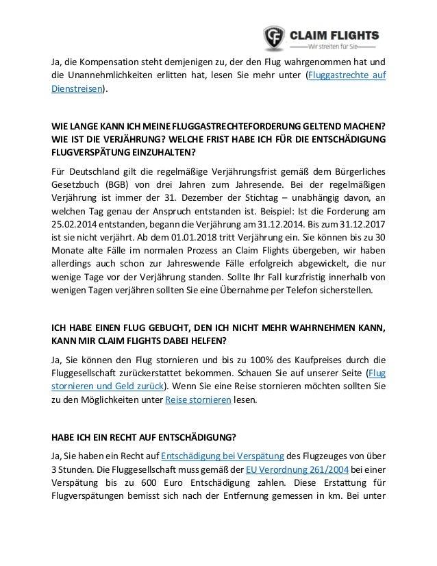 FLUGVERSPÄTUNG ENTSCHÄDIGUNG MUSTERBRIEF