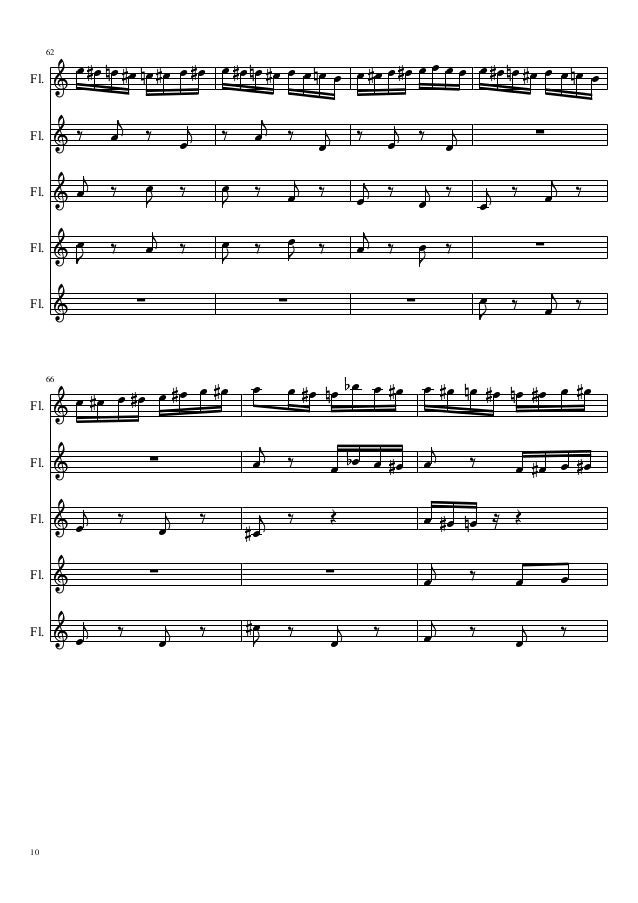flight of the bumblebee flute pdf