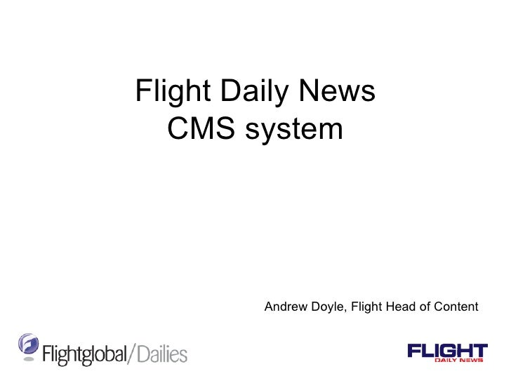 Flight Daily News CMS system Andrew Doyle, Flight Head of Content