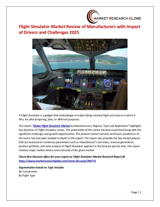 Flight simulator market review of manufacturers with impact