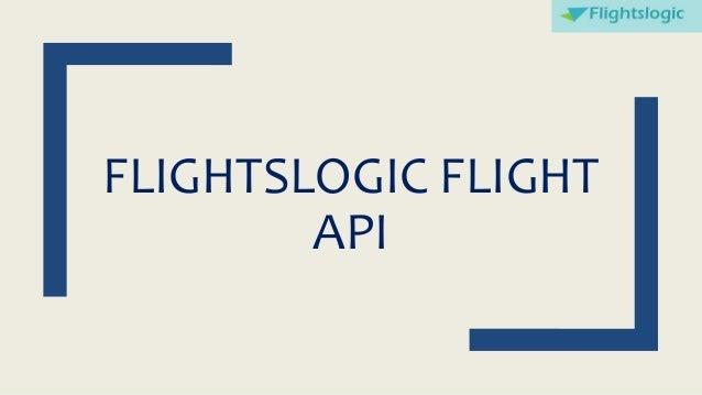 FLIGHTSLOGIC FLIGHT API