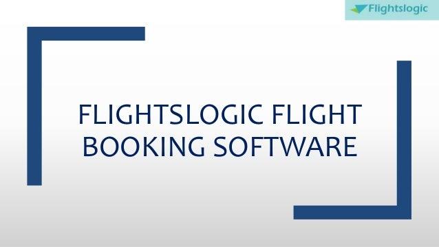 FLIGHTSLOGIC FLIGHT BOOKING SOFTWARE