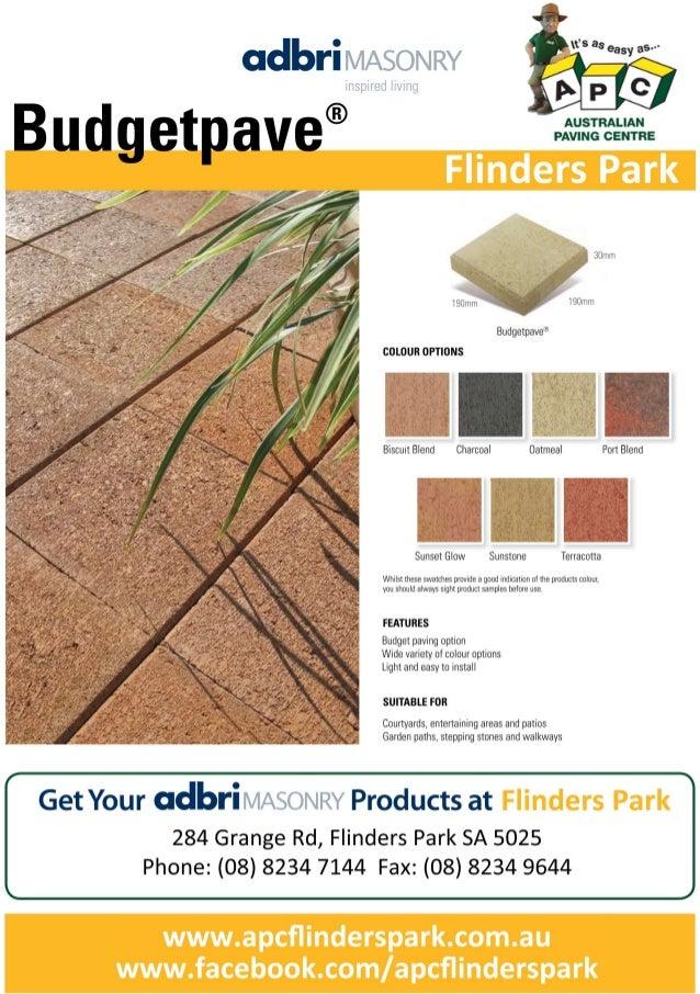 APC Budgetpave - FlindersPark