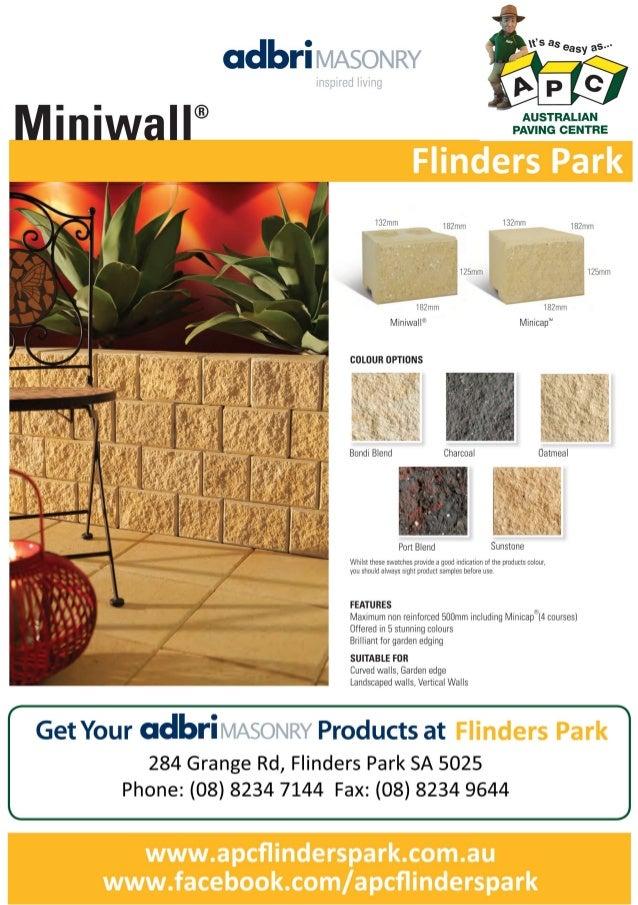 Flinders park apc_miniwall