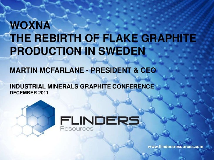 WOXNATHE REBIRTH OF FLAKE GRAPHITEPRODUCTION IN SWEDENMARTIN MCFARLANE - PRESIDENT & CEOINDUSTRIAL MINERALS GRAPHITE CONFE...
