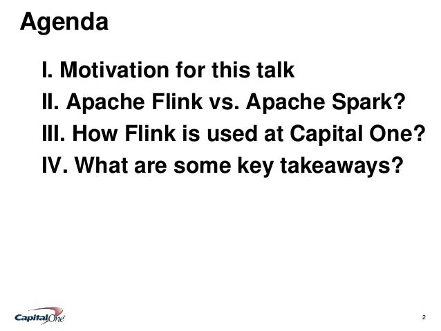 Flink vs. Spark Slide 2