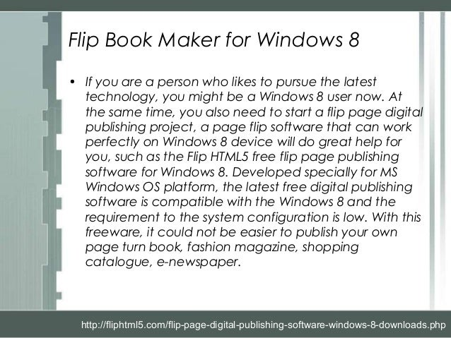 Flip HTML5 - Flip Page Digital Publishing Software Windows 8 Download…