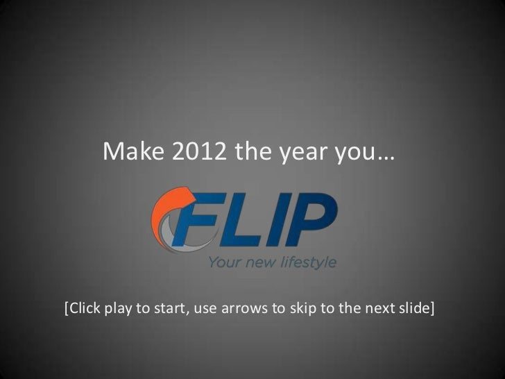 Make 2012 the year you…[Click play to start, use arrows to skip to the next slide]