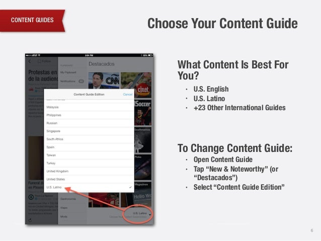 CONTENT GUIDES 6 What Content Is Best For You?! • U.S. English • U.S. Latino • +23 Other International Guides ! ! ! To Cha...
