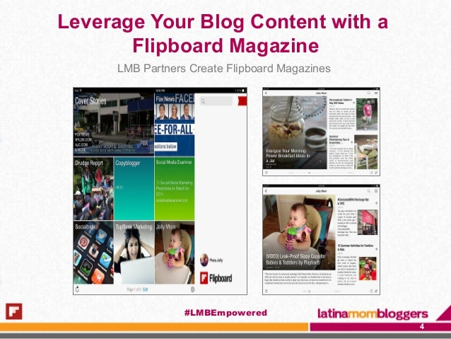 Leverage Your Blog Content with a Flipboard Magazine LMB Partners Create Flipboard Magazines 4 #LMBEmpowered