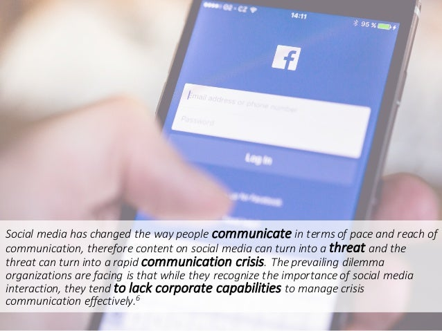 Socialmediahaschangedthewaypeoplecommunicate intermsofpaceandreachof communication,thereforecontentonsoc...