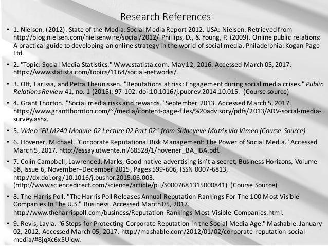 ResearchReferences • 1.Nielsen.(2012).StateoftheMedia:SocialMediaReport2012.USA:Nielsen.Retrievedfrom http...