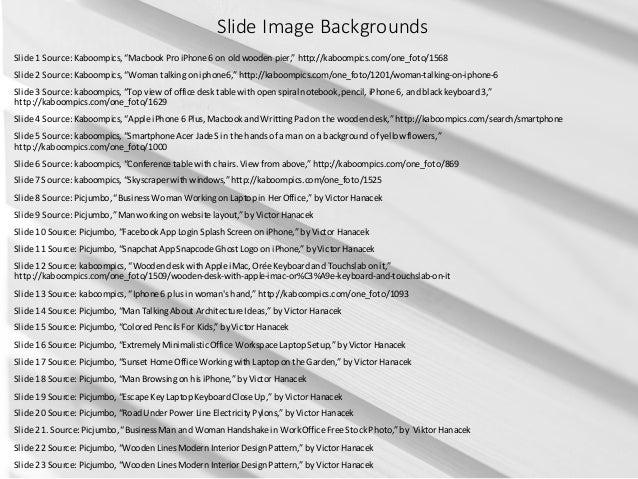 """SlideImageBackgrounds Slide1Source:Kaboompics,""""Macbook ProiPhone6onoldwoodenpier,""""http://kaboompics.com/one_f..."""