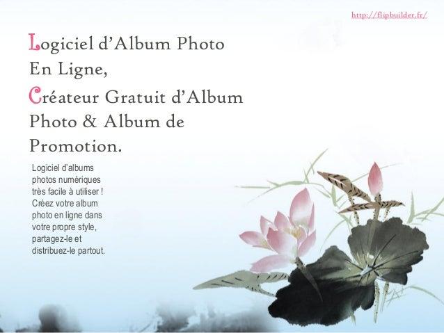 Logiciel d'Album Photo En Ligne,  Créateur Gratuit d'Album Photo & Album de Promotion.  Logiciel d'albums photos numérique...