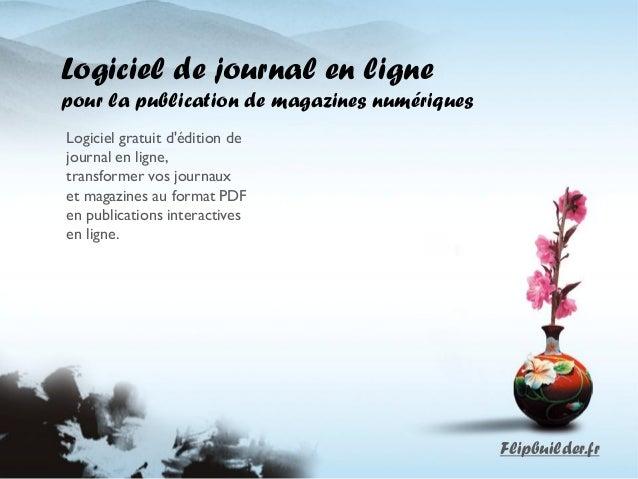 Logiciel de journal en ligne  pour la publication de magazines numériques  Logiciel gratuit d'édition de journal en ligne,...