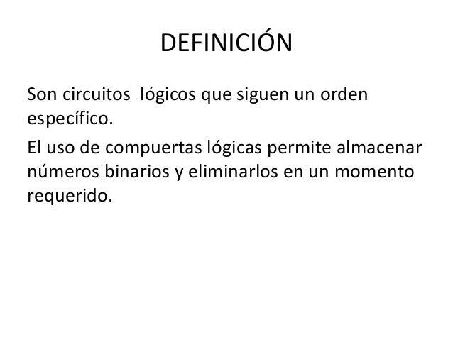 Circuito Logico Definicion : Flip flop