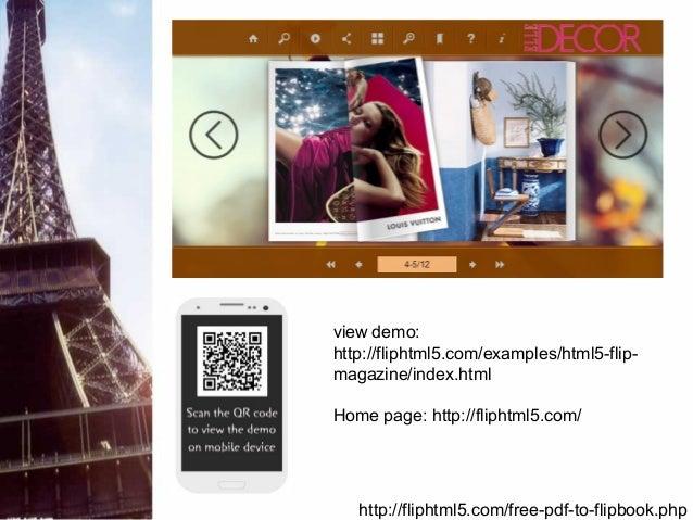 Flip html5 - free pdf to flipbook