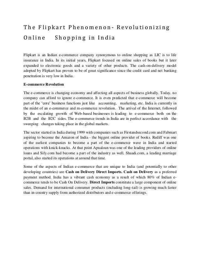 The Flipkart Phenomenon-Revolutionizing Online Shopping in ...
