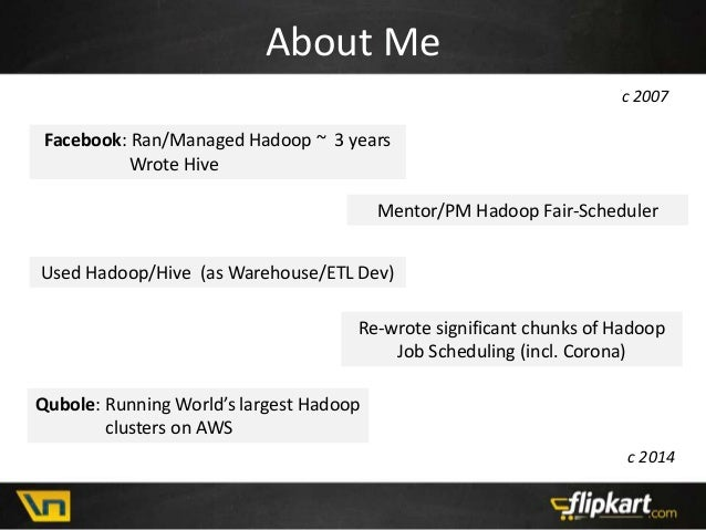 Hadoop Scheduling - a 7 year perspective Slide 2