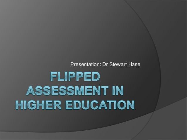 Presentation: Dr Stewart Hase