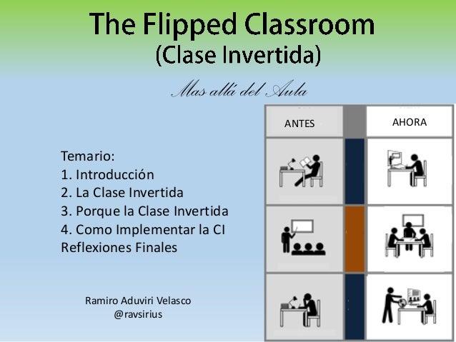 Mas allá del Aula ANTES  Temario: 1. Introducción 2. La Clase Invertida 3. Porque la Clase Invertida 4. Como Implementar l...