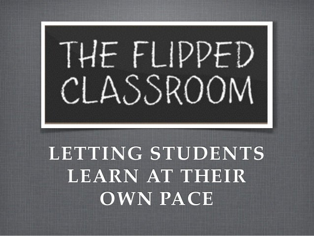 LETTING STUDENTS LEARN AT THEIR OWN PACE