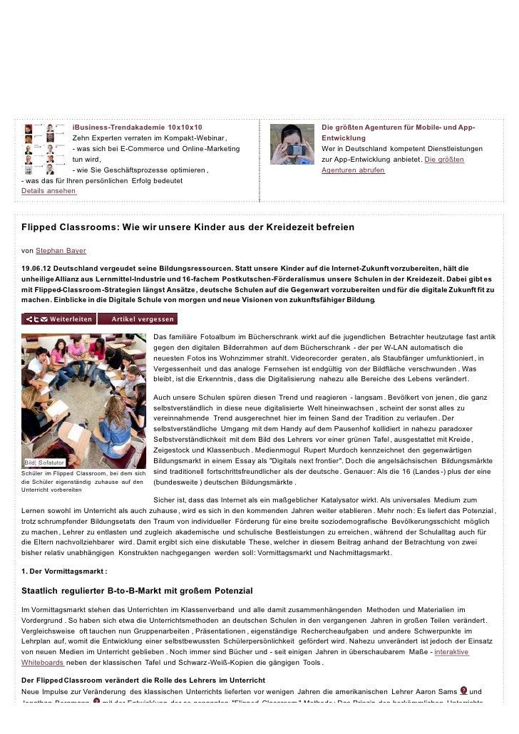 iBusiness-Trendakademie 10x10x10                                                  Die größten Agenturen für Mobile- und Ap...