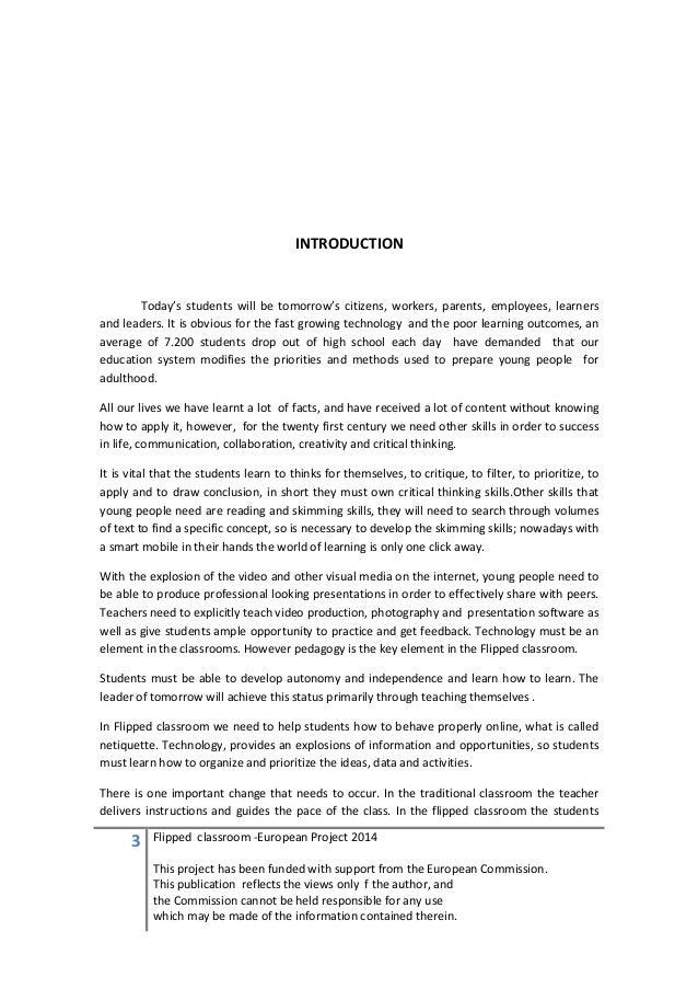 Flipped essay