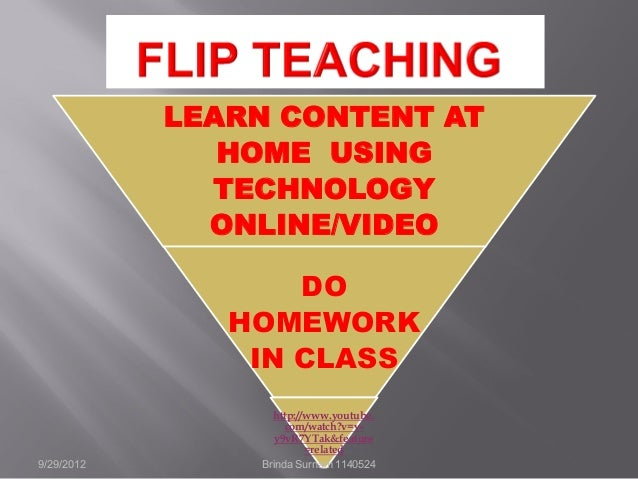 LEARN CONTENT AT HOME USING TECHNOLOGY ONLINE/VIDEO DO HOMEWORK IN CLASS http://www.youtube. com/watch?v=v- y9vR7YTak&feat...