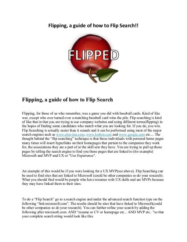 Flipping A Guide To Flip Searching