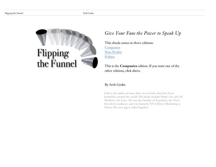 Flipping the Funnel   Seth Godin                                                                2                         ...