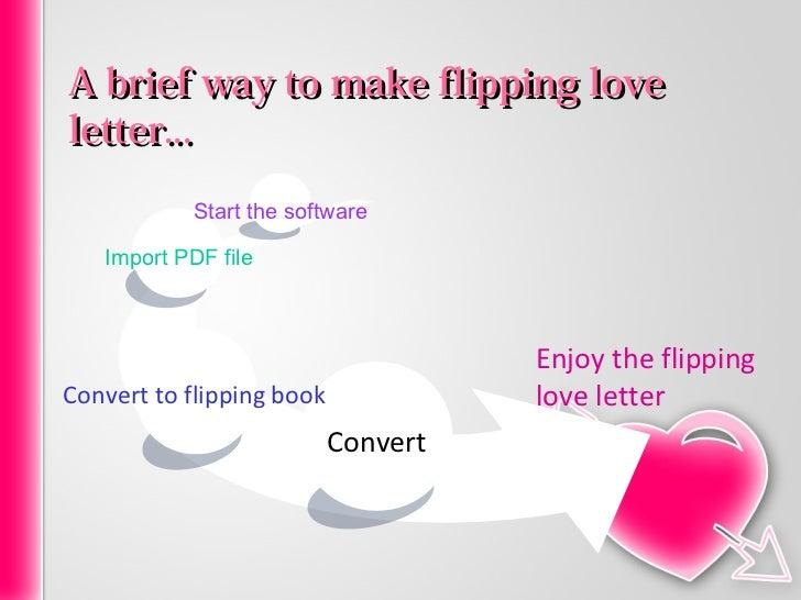 Flipping love letter