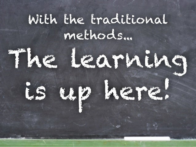 With the traditional methods... The learning is up here!